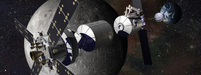 Artist illustration of Lockheed Martin's approach to cis-lunar habitats