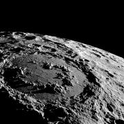 Schrödinger crater on the Moon's far side is a target for a seismometer and a radio telescope. Photo Credit: NASA GSFC Scientific Visualization Studio