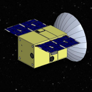 An artist's impression of Capstone. Tyvak Nano-satellite Systems