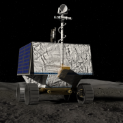 An artist's rendering of VIPER on the moon. Credit: NASA