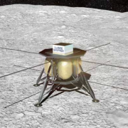 Artist illustration of the LuSEE DAPPER craft on the lunar surface
