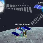 Chinese Relay Satellite illustration by Cena Lau