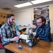 CU Students work on telerobotics