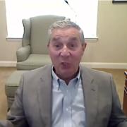 Dr. Jack Burns NASA Advisory Council speaking on video