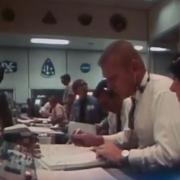 Photo of Gene Kranz in control room