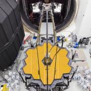James Webb Space Telescope image in clean room