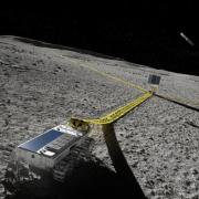 The far side of the moon offers a unique opportunity to radio astronomers: an observatory built there could peer into the early universe, shielded from electromagnetic interference from Earth. Illustration: Peter Sanitra