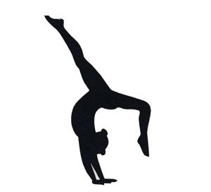 Silhouette doing backbend