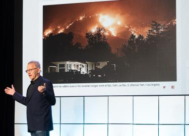 Michael Kodas presenting The Race to End Megafires in California
