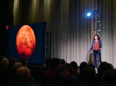 Allison Anderson presenting Walking on Mars