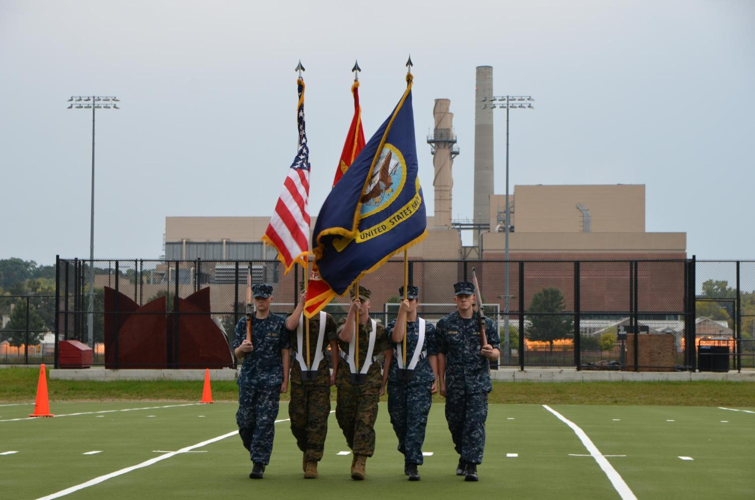 Color Guard team competes at the Wisconsin Fall Invitational
