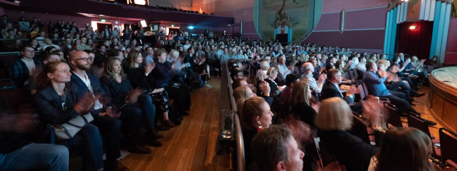 nvc crowd in boulder theater