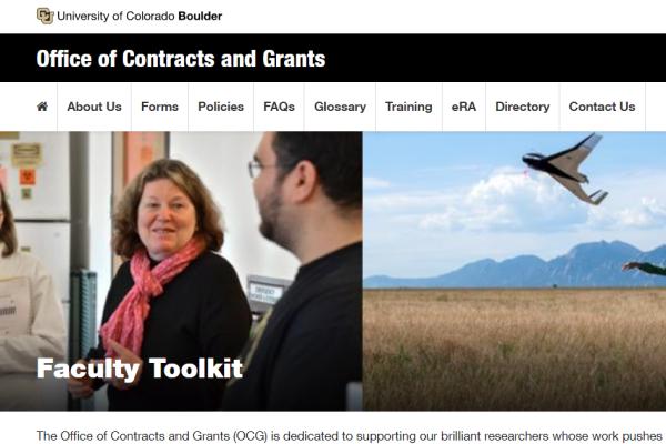 Faculty Toolkit Screen grab
