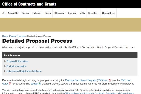 Detailed Proposal Process