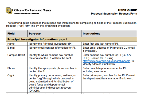 PSR User Guide Page 1