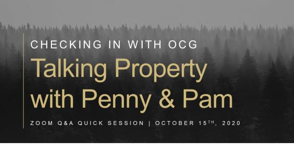 Checking In with OCG: Talking Property with Penny and Pam