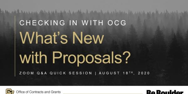 Checking In with OCG