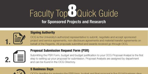 Faculty Top 8 One-Pager Example