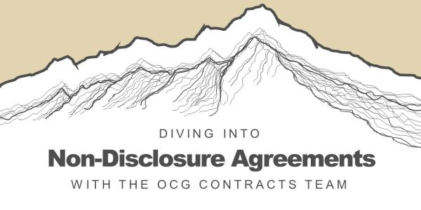 Diving into Non-Disclosure Agreements with the OCG Contracts Team