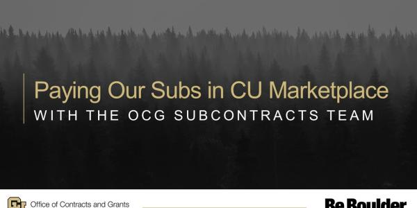 Paying Our Subs in CU Marketplace