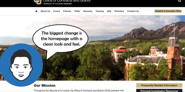 OCG website homepage