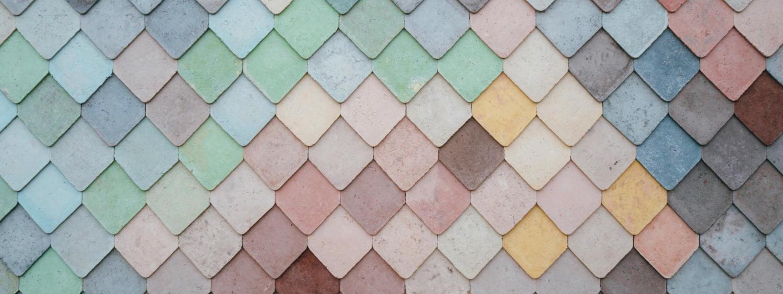 multi-colored shingles