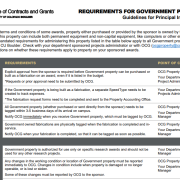 Requirements for Government Property Page 1