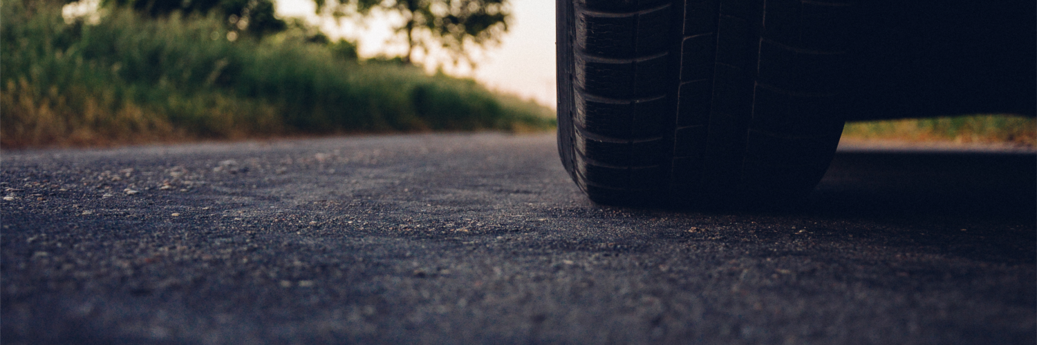 Tire on road