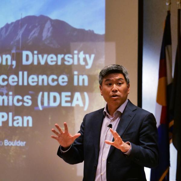 Daryl Maeda presents diversity plan