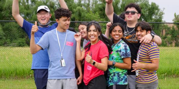 Summer Bridge students on challenge course