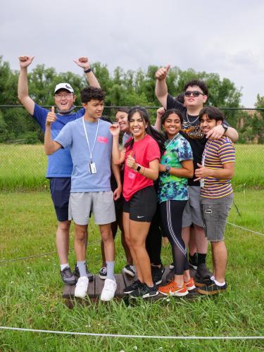 Summer Bridge students at the CU Boulder challenge course