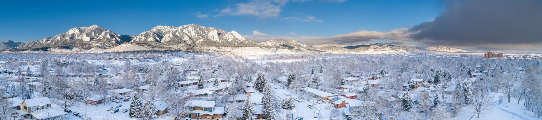 Aerial shot of Boulder