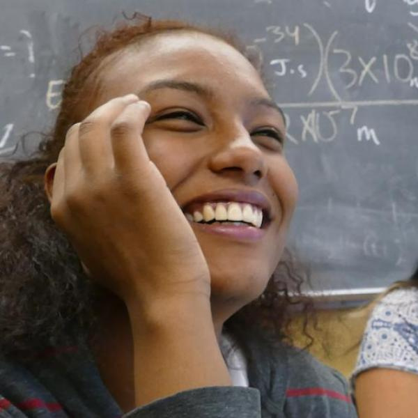 SASC students laughing during class