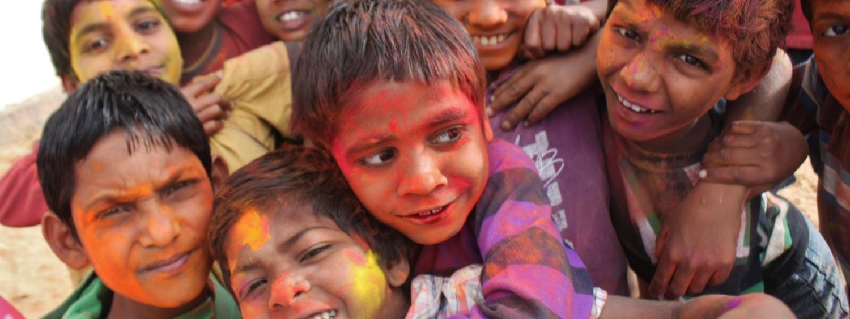Children at Holi