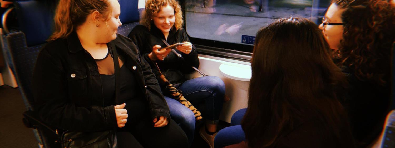 Friends on a Train
