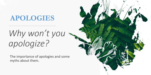 "Slide 1 of ""So Why Won't You Apologize"" presentation"