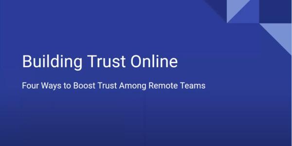 """Front slide of """"Building Trust Online"""" presentation"""