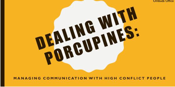 Title slide for presentation entitled Dealing With Porcupines