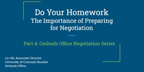"Slide 1 of  ""Do Your Homework"" presentation"
