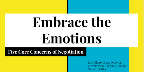 "Slide 1 of the ""Embrace the Emotions"" presentation"