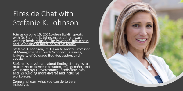 Photo of Stefanie K. Johnson who will have a chat about her book Inclusify