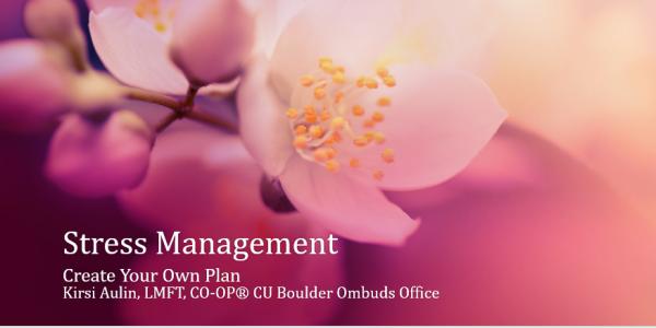 """Slide 1 of """"Stress Management"""" presentation"""