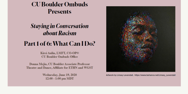 Title slide introducing part 1 of racism presentation series