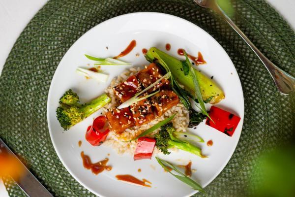crispy tofu rice