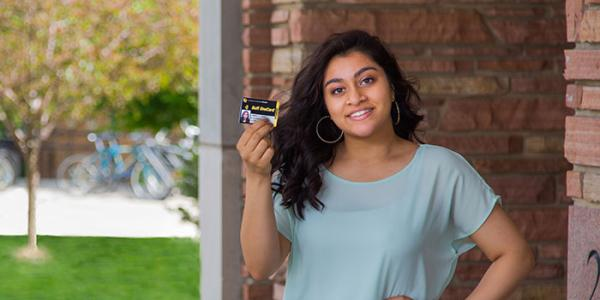 student with buff onecard