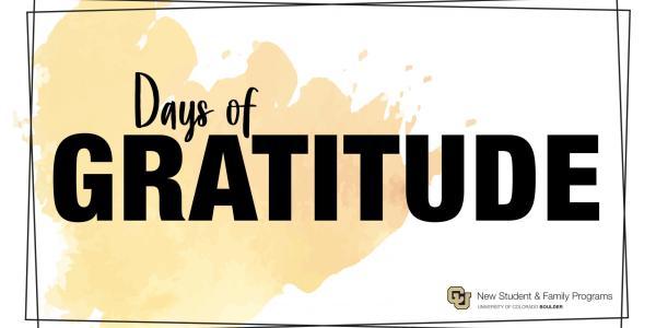 days of gratitude
