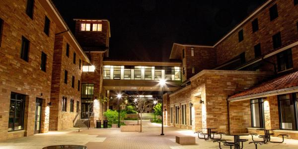Night time on campus