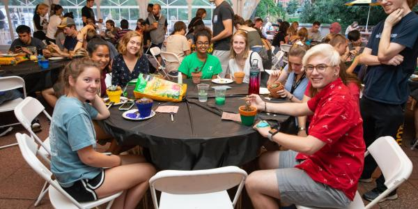 A group of students at the UMC Fall Fest event