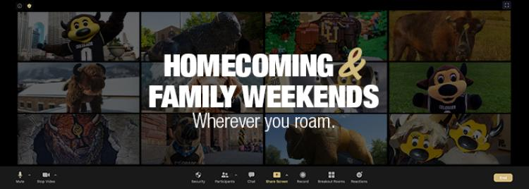 family weekend and homecoming