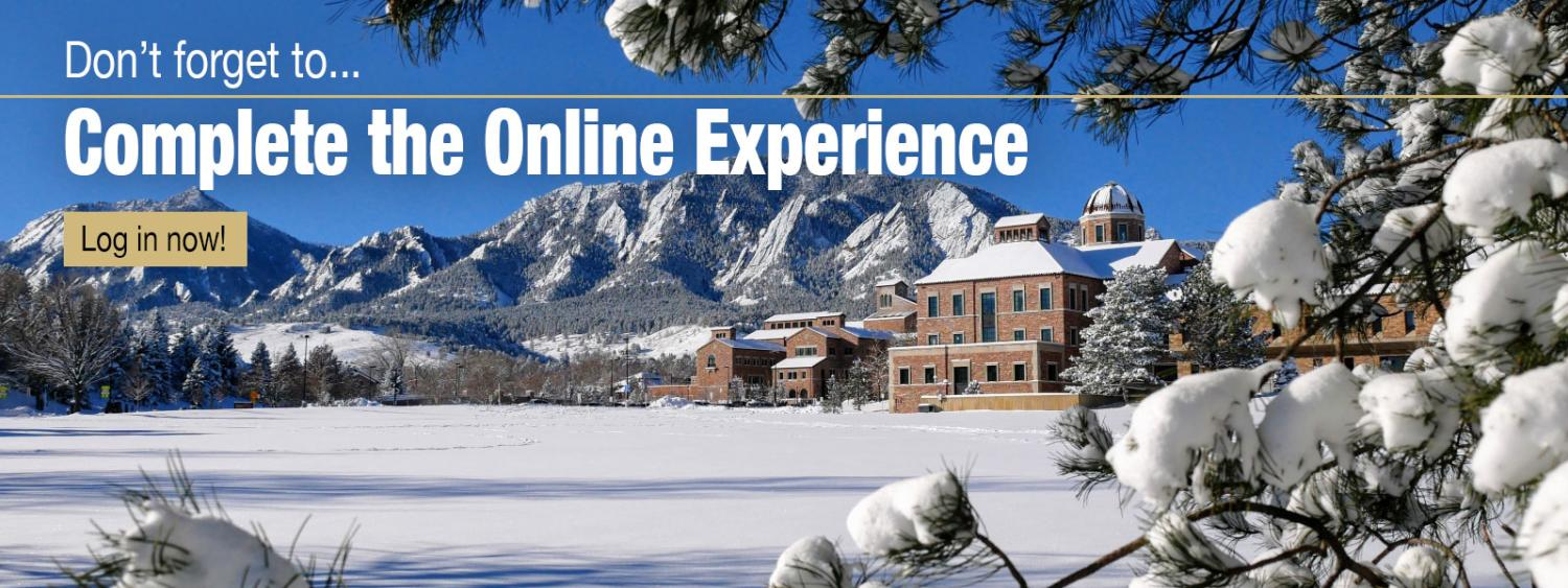 Complete the Online Experience